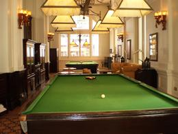 Snooker anyone? The games room just off the dining room area, Raffles Hotel - May 2011