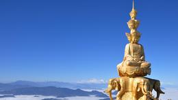 Golden statue of Puxian - June 2012