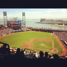 Great view of the field from up here!, Trina Tron - September 2012