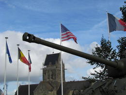 View from Sainte-Mère-Église - village in Normandy liberated by the Americans on D-Day, June 6, 1944. , James C - August 2012