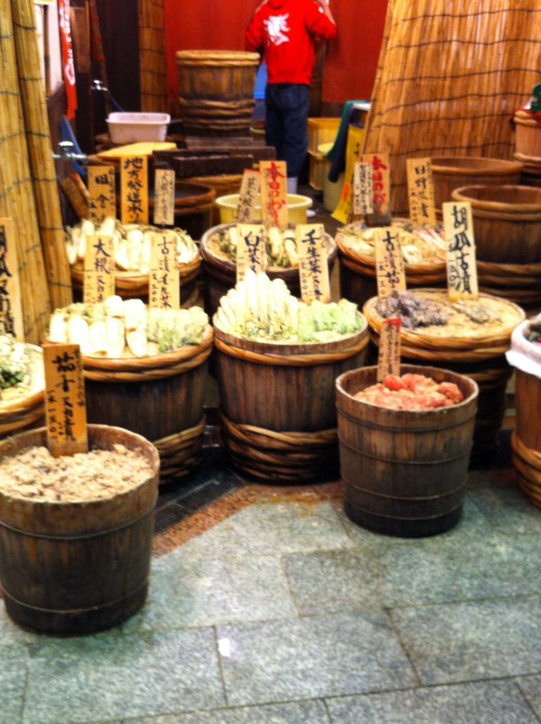 Japanese Pickles at Nishiki Market - Kyoto
