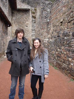 My brother and I at the Amphitheatre, Cat - January 2012