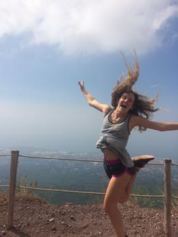 Karsten is on top of the world.....well, on top of Mt Vesuvius anyway! , Dana D A - September 2016