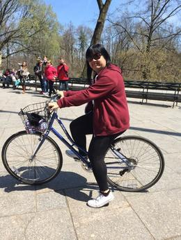 Me about to start cycling around Central Park , W Y C W - April 2014