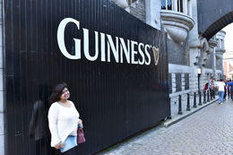 My wife at the guinness entrance , Anirban C - July 2016