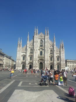 Touring Milan Square at the Duomo. , Russ - August 2013