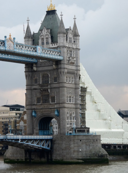 A view of one of the Tower Bridge towers., kellythepea - October 2010