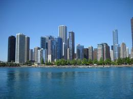 View of Chicago from cruise boat on Lake Michigan - December 2011
