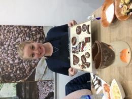 making the chocolate , Aðalheiður J - January 2017