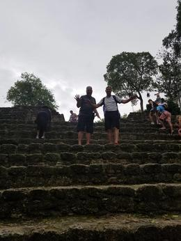 Here we are on the steps up to the Platform of the Great City of Chacchoben , Jw S - August 2017