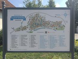 Map of the town of Szentendre , Chris V - August 2017
