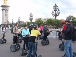 This is part of our Segway tour group on one of the many bridges we crossed in Paris., Linda C - August 2010