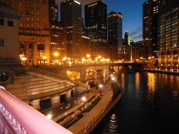 Chicago at night by the river...fabulous , Patricia J G - November 2012