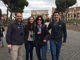 Prior to entering the Colloseum. , Alan P - April 2015