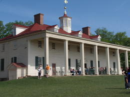 The back porch of Washington's house overlooking the Potomac River. , sj - April 2012