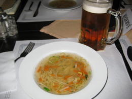 We enjoyed delicious soup for our first course during our lunch at Eggenberg Brewery. , Crystal W - October 2014