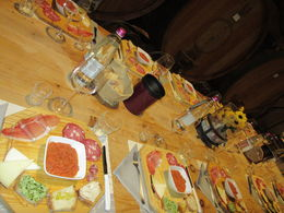 Our lovely spread for appetizers , Lee - April 2015