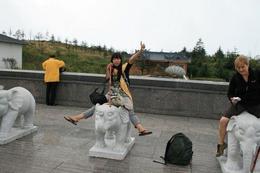 Having fun on top of the Golden Summit - June 2012