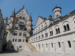 This courtyard is the entrance to the castle , Kevin F - August 2013