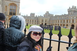 My wife Bernadette enjoying the Palace guard band playing some marching songs. , Pedro L - May 2013