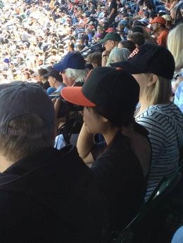 Stands are full for a beautiful day game, Trina Tron - September 2012