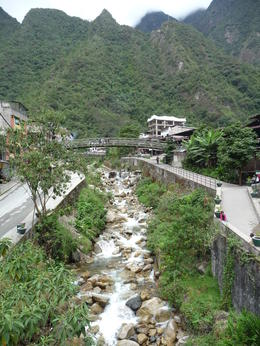 There are no cars in town - just the buses that bring you to Machu Picchu, Trina Tron - July 2013