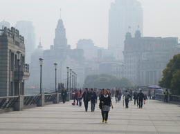 Walking along the Bund , Sandra K - April 2014