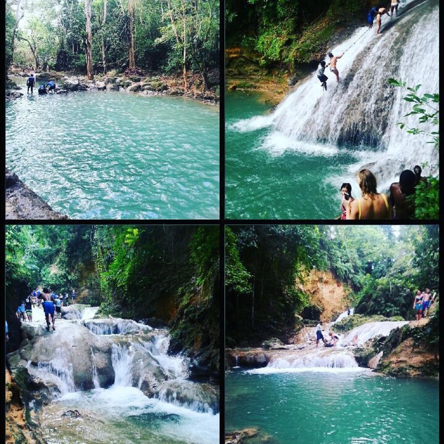 MAIS FOTOS, Combo de excursões particulares em Blue Hole e Parque das Cataratas Konoko