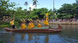 Boat Parade from each of the seven island cultures represented - Tahiti , RICHARD W - April 2017