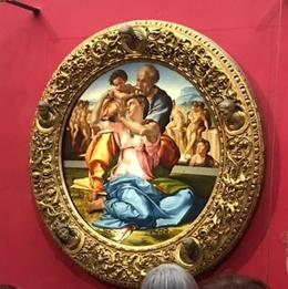 Painting by Michelangelo -- note the magnificent frame. , Joann M - September 2017