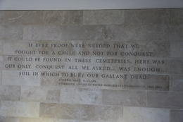 General Mark Clarks statement on the purpose of the American Cemetery at Normandy. , John C - September 2012