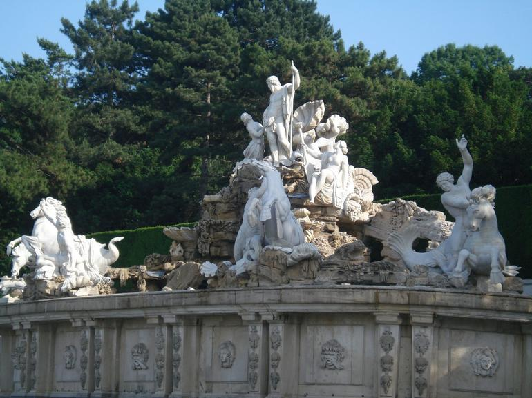 A grand water fountain at Schonbrunn Palace - Vienna