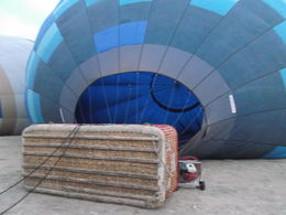 Balloon filled up with air and ready to go. , maltafan - November 2015