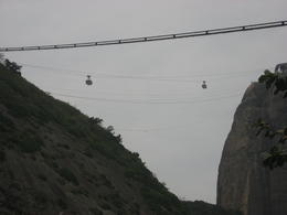 Cable cars doing the second trip up to Sugar Loaf., Bandit - September 2011