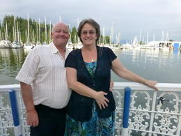 Tom and myself on our cruise on a beautiful sunny evening , CHRISTINE H - July 2013