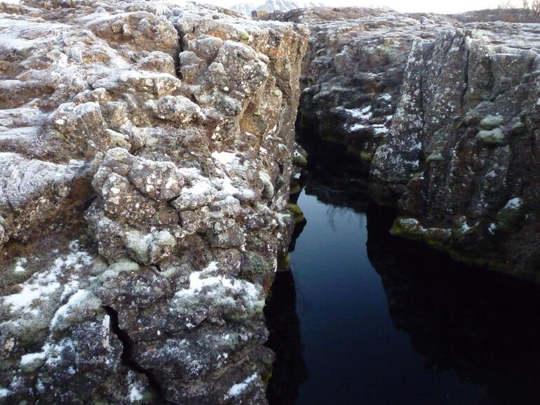 Glacial lake in a fissure around �ingvellir - Reykjavik