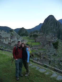 Just before sunrise at Machu Picchu, Trina Tron - July 2013