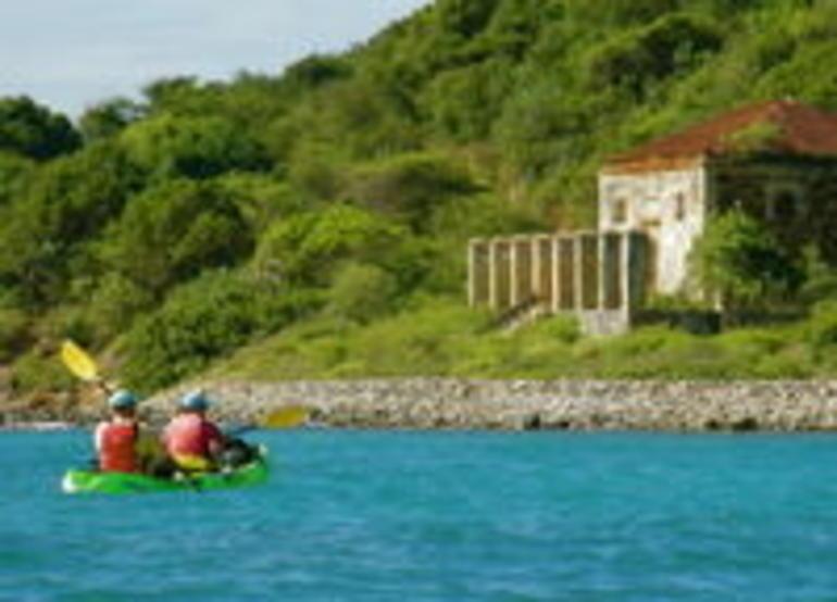 Kayaking near Hassel Island - St Thomas