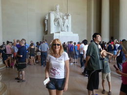Picture of my wife enjoying the beautiful memorial. , David S - August 2015