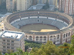 View of the bullring from Castillo de Gibralfaro. , skincanon - January 2012