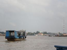 View of the Mekong Delta as we leave the wharf., Justin L - January 2009