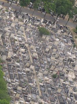 Views of the cemetery from the 56th floor , Khadine A - July 2011