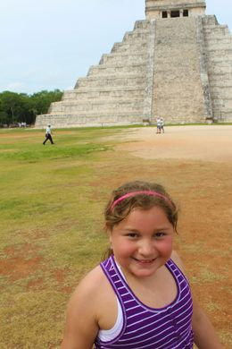 My daughter thrilled because she was able to hear the quetzal from the top of the pyramid. , Brenda V - July 2015