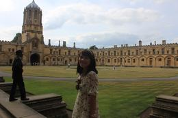 She was standing in one of OXFORD COLLEGE, Tiurmina T - July 2010