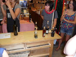 This is at the balsamic vinegar tasting. , ANDREA V - July 2011