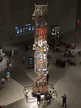 The Last Column was the last piece of the WTC removed from the site. It is adorned with pictures, letters, and patches commemorating those who were affected by the attacks., AM - June 2016