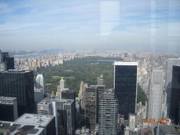 Central Park's great lawn. I am standing at the top of the Top of the Rock Tower. See everything that you could see from Empire State Building without the long lines., Lisa C - October 2008