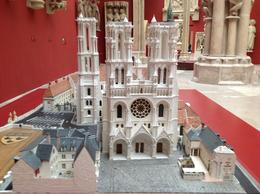 This is one delicate, intricate miniature of (I believe) Notre Dame Cathedral - housed in the Museum of French Monument taken at La Cité De L Architecture Et Du Patrimoine. This is one and ... , Bebe - May 2013
