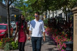 walking in a perfect day of sun in Toronto. , Michele D - August 2015