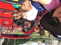selfie shot of myselfdina, my daughter sary and my son Juan on HOHO , Dinah - August 2017